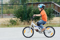 Child riding bike Stock Image