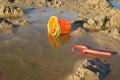 Child's beach bucket and shovel Stock Image