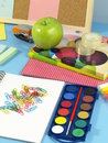 Child's desk Stock Photography