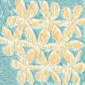 Child`s Drawing Style Flowers Closeup Royalty Free Stock Photo
