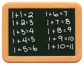 Child's Mini Chalkboard - Math Royalty Free Stock Images