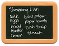Child's Mini Chalkboard - Shopping List Stock Photos