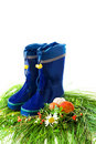Child's rain boots Royalty Free Stock Photo