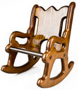 Child's Solid Wood Rocking Chair Royalty Free Stock Images