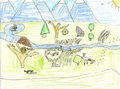 Child's wildlife drawing Royalty Free Stock Images