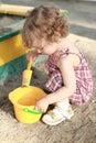 Child in sandbox Stock Photography