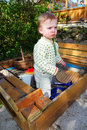 Child sandpit Stock Photography