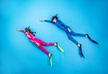 Child scuba divers Royalty Free Stock Photo