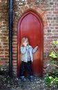 Child secret door Royalty Free Stock Photography