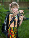 Child shoot summer tropical nature. Stock Photos