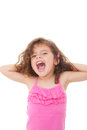 Child shouting or singing Stock Image