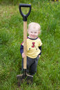 Child with the shovel Stock Photo
