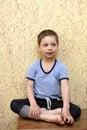 Child sitting on commode