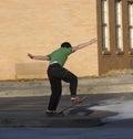 Child Skateboarding Royalty Free Stock Photos