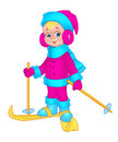 Child  ski Royalty Free Stock Photo