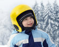 Child skier portrait Royalty Free Stock Photo