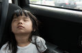 Child sleeping in the car Royalty Free Stock Photo