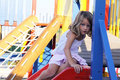 Child on slide Royalty Free Stock Photo
