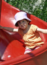 Child slide. Royalty Free Stock Images