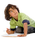 Child studying Royalty Free Stock Photo