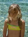 Child summer hairstyle Royalty Free Stock Photo