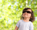 Child in sunglasses Stock Photos