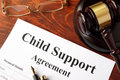 Child support agreement Royalty Free Stock Photo