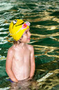 Child at swim lesson Royalty Free Stock Images