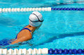Child swimming breaststroke Royalty Free Stock Photos