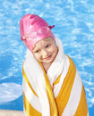Child swimming in pool. Stock Image