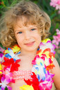 Child in swimming pool happy playing summer vacations concept Stock Photography