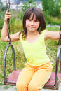 The child on a swing Stock Photos