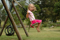 Child swinging Royalty Free Stock Photo