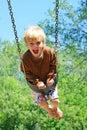 Child Swinging at Park Royalty Free Stock Photo