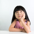 Child thinking Royalty Free Stock Photo