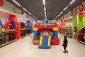 Child to the playground in jumbo supermarket at bucharest romania Royalty Free Stock Images