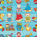 Child toy seamless pattern. Design element