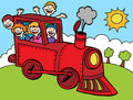 Child Train Ride Stock Images