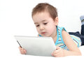 Child using a digital tablet Royalty Free Stock Photos