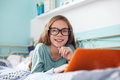 Child using laptop Royalty Free Stock Photo