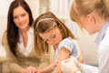 Child vaccination pediatrician apply injection Royalty Free Stock Photos