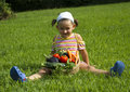 Child and Vegetables Royalty Free Stock Photography