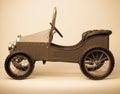 Child Vintage Pedal Car Royalty Free Stock Photo