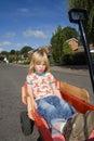 Child wagon cart estate Stock Images