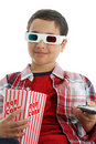 Child watching movie Royalty Free Stock Photo