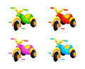 Child wheel car colorful toy cars isolated Royalty Free Stock Photos