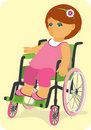 Child in a wheelchair. Royalty Free Stock Image