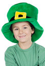 Child whit hat of Saint Patrick's Stock Photography