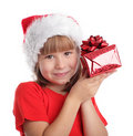 Child whith gift Royalty Free Stock Images
