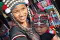 Child wih mother in thailand children with met somewhere Stock Photo